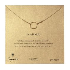 Karma Necklace-Gold 18