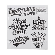 Verses Pt. 2 Sticker Sheet | walk in love.