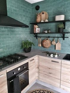 Image in Home 💙 collection by Sol Colin on We Heart It Kitchen Interior, Kitchen Inspirations, Home Decor Kitchen, Kitchen Remodel, Kitchen Decor, House Interior, Sweet Home, Home Kitchens, Home Interior Design