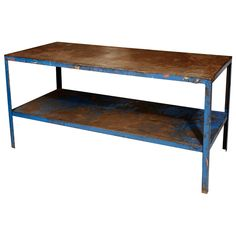 Early 20th century French metal tiered worktable