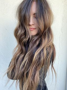 High contrast balayage with pops of light and dark High Contrast, Light In The Dark, Salons, Long Hair Styles, Beauty, Beleza, Lounges, Long Hair Hairdos, Cosmetology