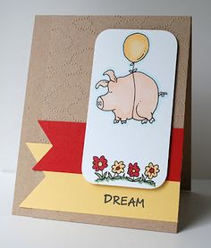 Hambo - Floating Pig Digital Stamp, Your Next Stamp - Fishtail Dies