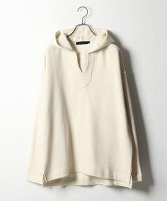 RAGEBLUE(レイジブルー)の「ウール混裏毛スウェットキーネックパーカ(トップス)」です。このアイテム着用のコーディネートをチェックすることもできます。 Blouse, Long Sleeve, Sleeves, How To Wear, Tops, Women, Fashion, Moda, Long Dress Patterns