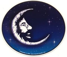 Grateful Dead Jerry Moon Outside Window Sticker NEW  $5.00 via deadaheadgifts