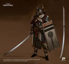 Project Lightfall Character concept art for an exciting new AAA RPG mobile game currently in development from Plarium Kharkiv in cooperation with Plarium UK Created by Concept Artist Ihor Pasternak. Fantasy Concept Art, Fantasy Armor, Medieval Fantasy, Fantasy Fighter, Dnd Characters, Fantasy Characters, Fantasy Inspiration, Character Inspiration, Ornstein Dark Souls