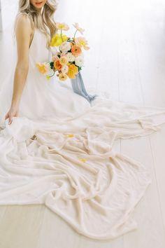 A Nordic Inspired Wedding Editorial Wedding Events, Wedding Gowns, Bustle, Wedding Beauty, Wedding Shoot, Fascinator, Color Pop, Wedding Inspiration, Bride