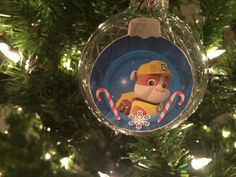 Paw patrol ornament Diy Christmas Tree, Christmas And New Year, Christmas Ideas, Christmas Ornaments, Paw Patrol Ornaments, Paw Patrol Christmas, Diy Ornaments, Mickey Mouse, Party Ideas