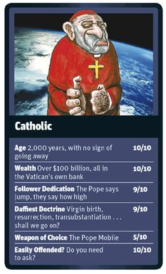 God Trumps Catholic card