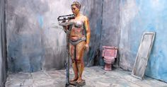 Painter and photographer Alexa Meade has made her mark on the art world by creating a body of work that plays with depth and our concept of real. She paints on humans, objects, and the space to create a two-dimensional scene.