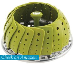 Joie Collapsible Vegetable Steamer Basket, Silicone Coated Stainless Steel. The Posh Living Blog.