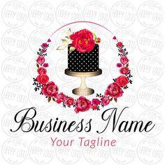 Pink Cupcake, Pink Gold Cake, Cupcake Logo, Cake Logo Design, Custom Logo Design, Custom Logos, Clipart, Cake Sketch, Ice Cream Logo