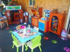 This is our 'Goldilocks and the Three Bears' home corner dramatic play learning environment currently set up on our lovely big verandah to allow the children for social role play opportunities. - Narell Powers Family Day Care, Child Care & Day Care, Modanville, NSW, 2480 - TrueLocal