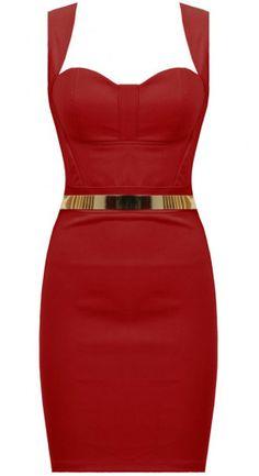 Czerwona gorsetowa sukienka ze złotym paskiem! http://lovetrendy.pl/sklep/dresses/czerwona-sukienka-z-paskiem/