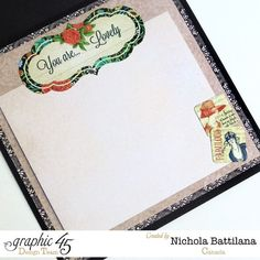 The inside of Nichola's beautiful Couture card #Graphic45 #cards