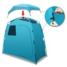 StrongCamel Shower Outdoor Portable Camping Beach Pop Up 2 Person Tent Changing Dressing Room 5 Person Tent, Toilet Tent, Truck Tent, Shower Tent, Tent Stakes, Cabin Tent, Portable Toilet, Pop Up Tent, Tent Camping