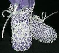 Tatted Booties | Roses can be used in lots of tatting and they are too pretty a ...