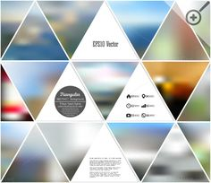 Abstract blurred backgrounds by VectorShop on @creativemarket