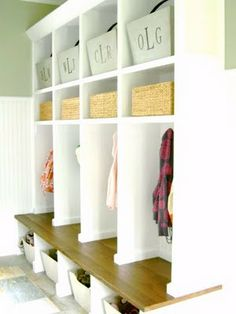 mudroom bench with cubbies and no lockers