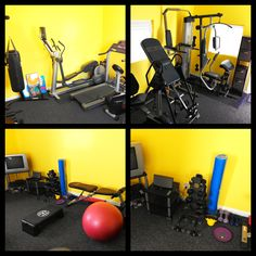 Home gym on pinterest home gyms garage gym and home gym for Best wall color for home gym