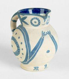 """Picasso, Pablo - (Malaga 1881 - 1973 Mougins)Schleiereulchen. Krug aus weißer[1949...], mis en vente lors de la vente """"Art des XXème et XXIème Siècles"""" à Dr. Lehr Kunstauktionen GmbH"""