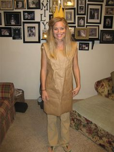 Great costume idea!  The Paperbag Princess!