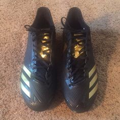 pretty nice 3bd9a 125ab adidas Shoes   Adidas Football Cleats   Color  Black Gold   Size  9