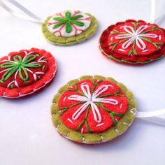 Felt Christmas Ornament Set by MartyMakes