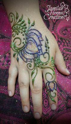 lotus big swirl henna www.jamilahhennacreations.com