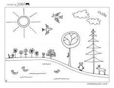 Made by Joel Earth Day Coloring Sheet Free Printable Template - lots of fun printables