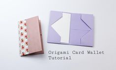 Print make origami business card holder origami pinterest easy origami business card case or wallet tutorial reheart Image collections
