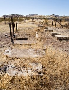 At its height 1,300 people called Steins home and the old cemetery still exists in the seven acre town site    Read more: http://www.dailymail.co.uk/news/article-2182753/Stagecoaches-outhouses-general-stores-Inside-preserved-American-ghost-town-left-untouched-70-years.html#ixzz22QlYivME