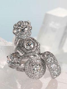 Martha Stewart Weddings rings via Calder Clark Designs blog