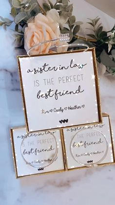 Brother In Law Gift, Sister In Law Birthday, Little Sister Quotes, Sister Poems, Best Friend Gifts, Gifts For Friends, Bridesmaid Proposal, Bridesmaid Ideas, Personalized Bridesmaid Gifts