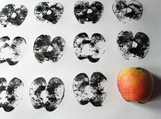 IF Kids Project :: Fruit or Vegetable Printing « Illustration Friday Projects For Kids, Art Projects, Kids Prints, Art Prints, Fall Arts And Crafts, Art Alevel, Vegetable Prints, Montessori Art, Apple Prints