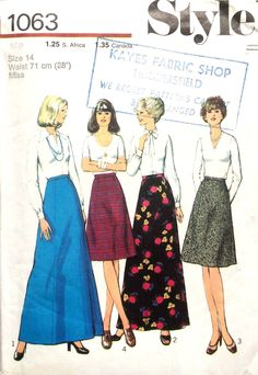 The Vintage Sewing Pattern Library is an independent lending library that has been established as a Research & Educational Library. Skirt Patterns Sewing, Vogue Sewing Patterns, Vintage Sewing Patterns, Clothing Patterns, Skirt Sewing, Retro Clothing, Retro Outfits, Vintage Outfits, Vintage Fashion