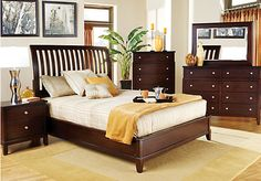 Shop for a Anderson 5 Pc Slat Queen Bedroom at Rooms To Go. Find Queen Bedroom Sets that will look great in your home and complement the rest of your furniture. #iSofa #roomstogo