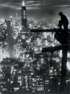 Work with a view, 1935; urban, the city, the shadows. Nothing happens in daytime, only in the night.