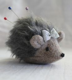 Hedgehog pincushion or softie - Who wouldn't want this darling creature to keep her company in the sewing room???