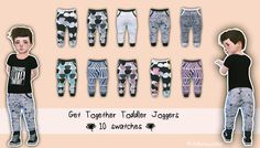 Sims 4 CC's - The Best: TODDLER JOGGERS by My Fabulous Sims #toddlerboy