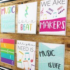 by Ashley McKenzie Preschool Music, Preschool Bulletin, Teaching Music, Music Classroom Posters, Classroom Themes, Elementary Music, Elementary Library, Ashley Mckenzie, Music Bulletin Boards