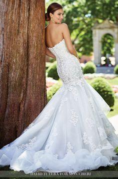 David Tutera wedding dress for Mon Cheri; click to see more dresses.