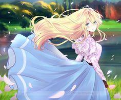 Violet Evergarden - Fanart by Eirlysie on DeviantArt Manga Kawaii, Chica Anime Manga, Kawaii Anime Girl, Manga Girl, Anime Art Girl, Anime Girls, Fille Blonde Anime, Art Anime Fille, Wallpaper Kawaii
