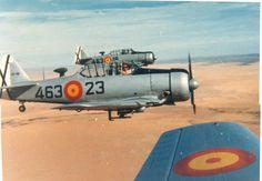 T-6 TEXAN DEL ALA 46 SPANISH AIR FORCE Fighter Pilot, Fighter Jets, Spanish Air Force, American Manufacturing, Army & Navy, Aviation Art, Texans, Military Aircraft, Postwar