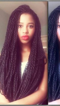 """Havanna Twists or """"Marley Twists"""" my protective style of choice for the entire summer :)"""