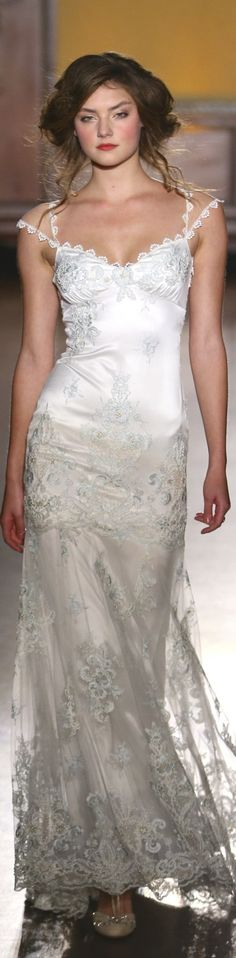 The front is similar to this: Lace straps (only 1 strap though) leading to the lace detail on the back, sweetheart bust with lace detail