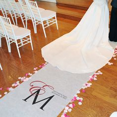 Create an unforgettably personal entrance on your wedding day with our Classic Monogram Aisle Runner. With its polished look, free personalization and vibrantly colored accent, this ceremony must have features one of our most demanded personalization styl$126.99