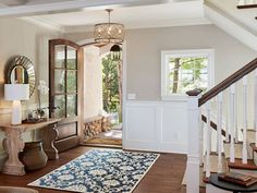 """Accessible Beige SW 7036 by Vivid Interior Design. Love this but note she is working with """"brown"""" wood not grey Beige Paint Colors, Room Paint Colors, Interior Paint Colors, Paint Colors For Living Room, Paint Colors For Home, Interior Design, Beige Color, Gray Paint, Interior Doors"""
