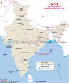 79 best india maps images on pinterest india map cards and maps location map of visakhapatnam sea port gumiabroncs Image collections