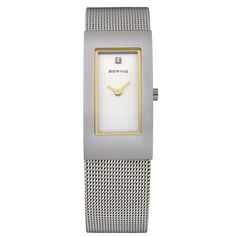 Bering Ladies Silver Dial Mesh Band Classic Watch 10817-004