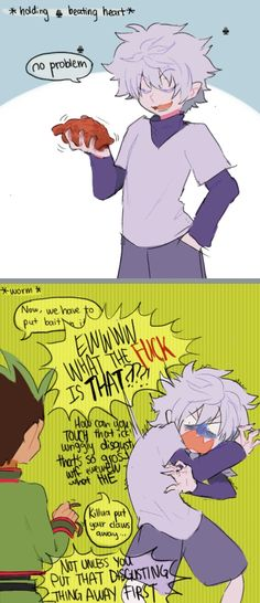Gon and killua Hunter x Hunter Haha poor Killua (favorite art) - Anime Anime Meme, Funny Anime Pics, Me Anime, Anime Guys, Manga Anime, Anime Stuff, Hunter X Hunter, Hunter Anime, Hunter Fans